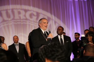 USP Advisor, Jim Hunt, speaks to attendees of the Forever Young Ball.